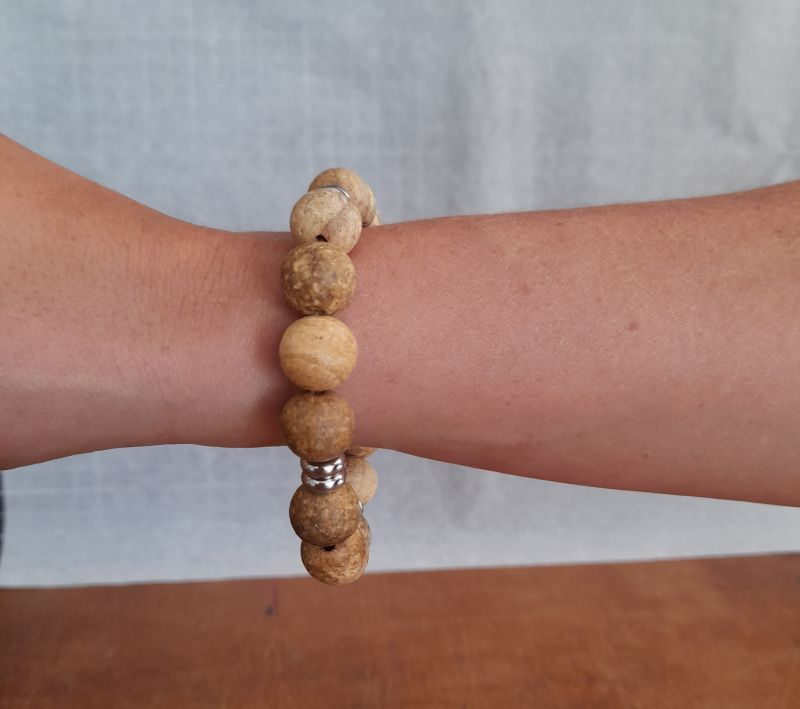 Peru PaloSan bracelet w/ss