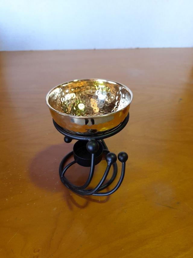 Oil Burner iron swirl/brassbwl