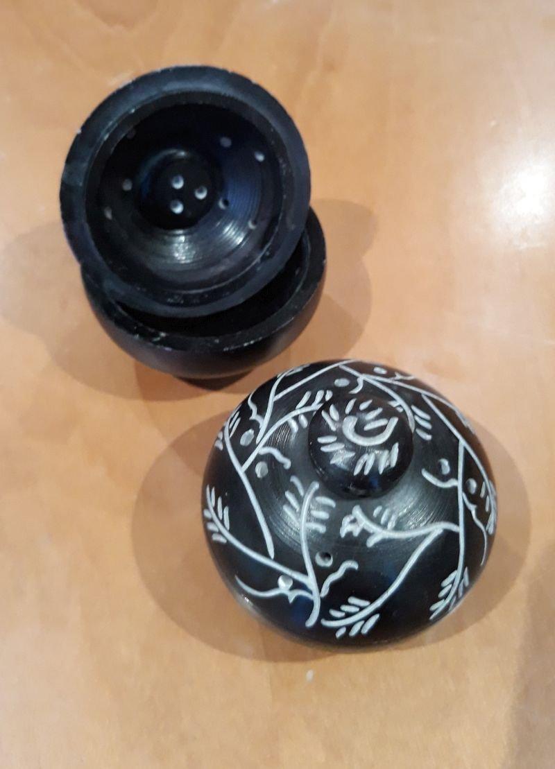 Sstone incense/potpourri jar