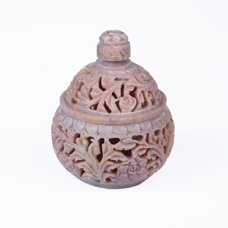 S'stone Jar w/lid 8x10cm