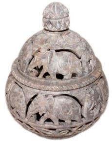 S'stone Jar w/lid 10x12.5cm