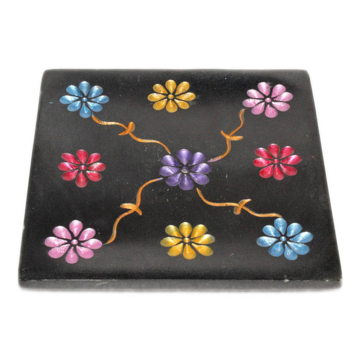Sstone 10cm square  black