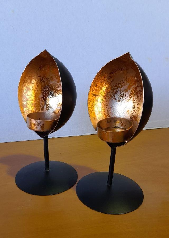 Iron tealight holder, set of 2