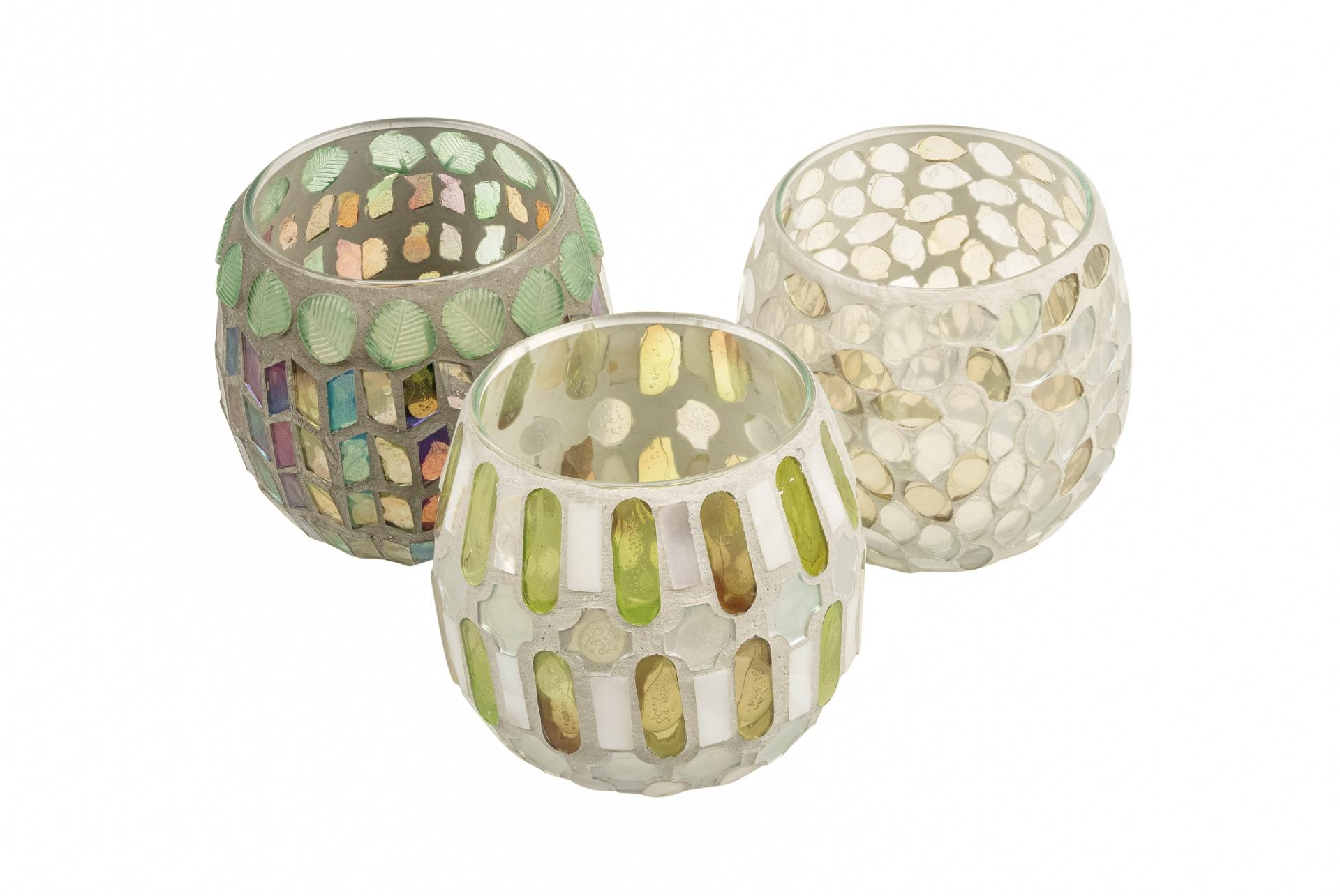 Candle hldr, White/pale Green