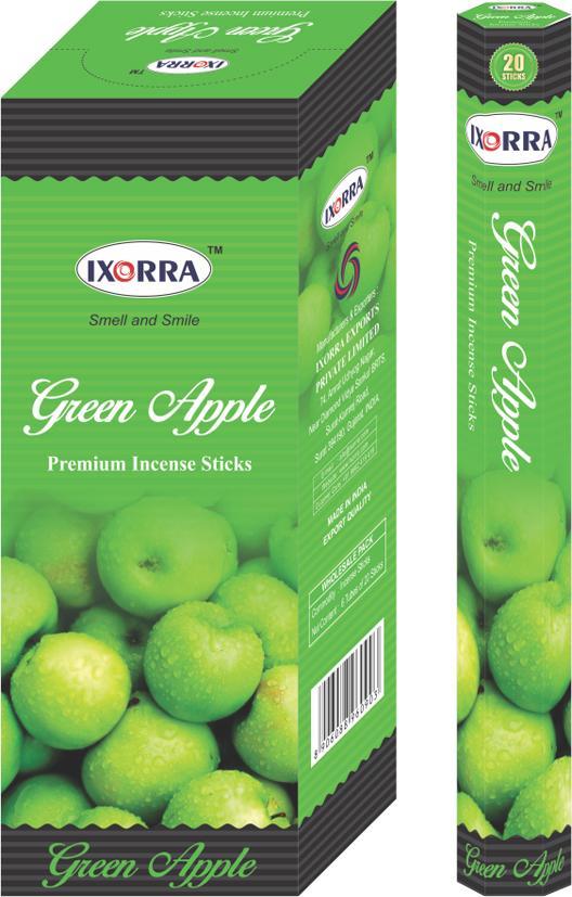 Ixorra Green Apple hex 6x20g