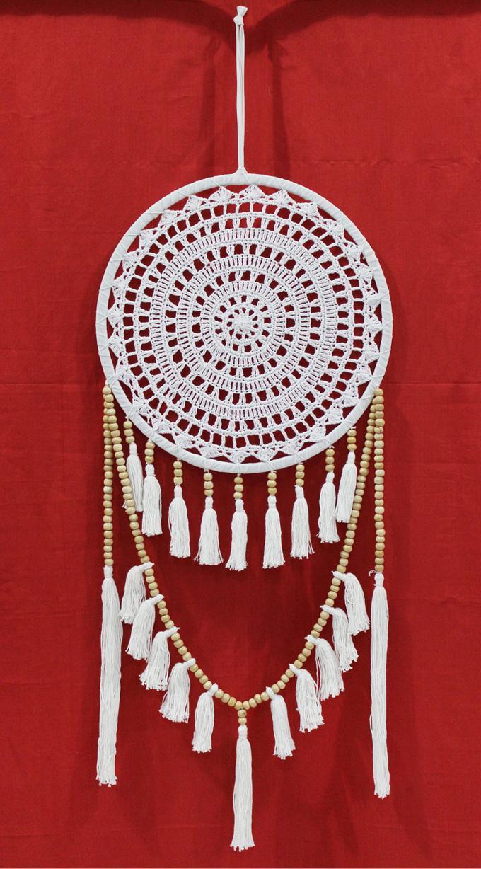 Dreamcatcher White Crochet