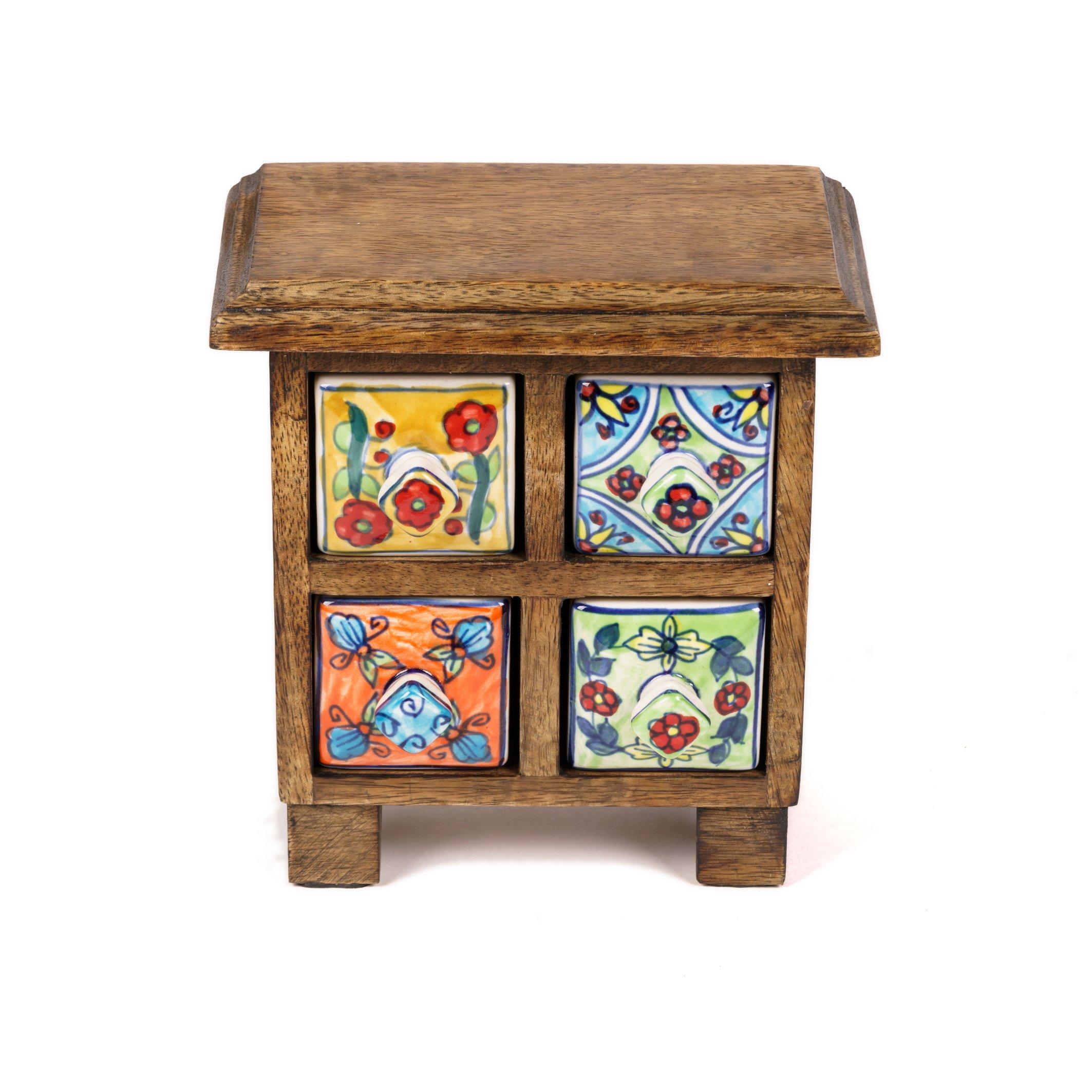 Ceramic 4 drawer