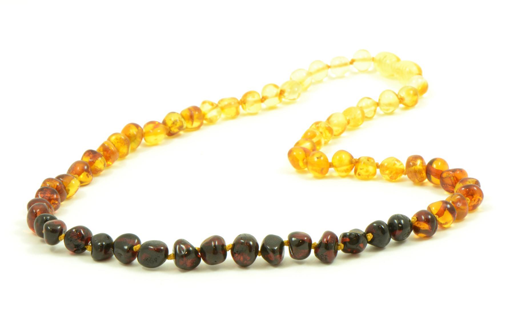 Amber necklace Rainbow 45cm