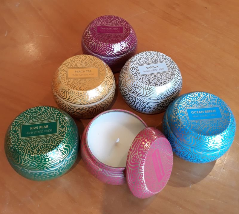 6.5mm Soy Candle  Vanilla x6