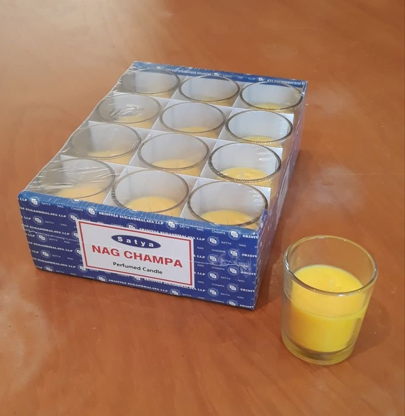Satya Nag candle 12 shot glass