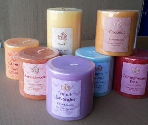 75mm Scented pillar candles