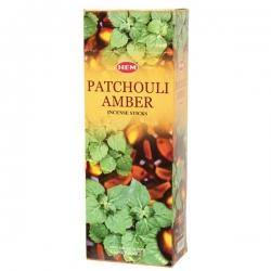 Hem Patchouli Amber, 6 x 20g