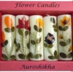Aurosh. pressed flower candles