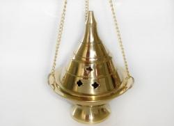 Hanging BrassBurner Char/Cones