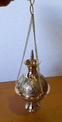 Hanging Brass hldr charcoal - Click for more info