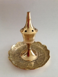 Brass holder, etched - Click for more info