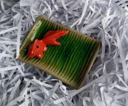 Ceramic Goldfish on dish