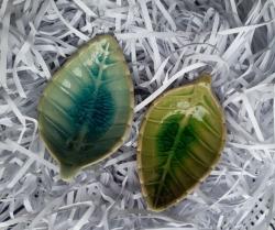Ceramic Leaf dish 6x10cm