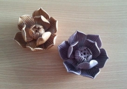 Ceramic Lotus holders (4clc - Caramel)