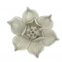 Ceramic Lotus holders (4clw - White)