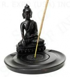 Resin incense holder, Buddha