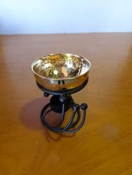 Oil Burner iron swirl/brassbwl - Click for more info