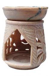 Oil Burner, Soapstone 10cm