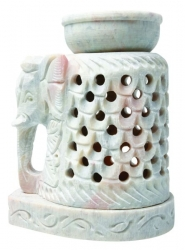 Oil Burner, Soapstone Elephant