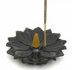 Stone Cone & Stick hldr, Lotus
