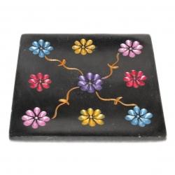 Sstone 10cm square  black - Click for more info