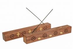 Small wooden box & ash catcher