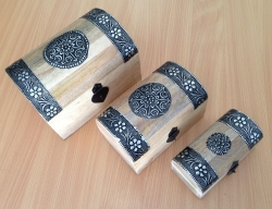 Wooden Chest, set of 3 - Click for more info