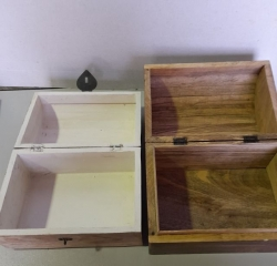 Wooden Chest, set of 3