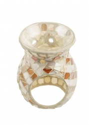 Oil burner glass white/brown