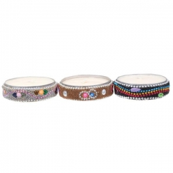 SOI Beaded Candle, 3 pack