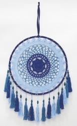 Dreamcatcher Blue Crochet