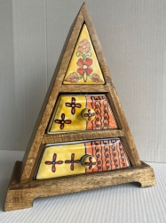 Ceramic 2 drawer triangle
