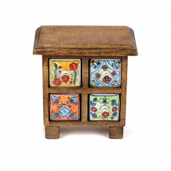 Mango cabinet 4 drawer - Click for more info