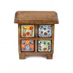 Mango cabinet 4 drawer