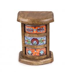 Ceramic 3 drawer