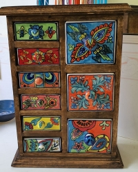 Mango cabinet 9 drawer