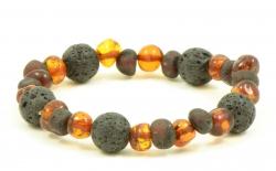 Amber bracelet cherry/cog/lava