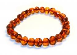 Amber bracelet dk cognac 20cm