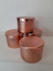 80mm SoyCandle hammered copper