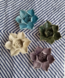 Ceramic Lotus holders - Click for more info