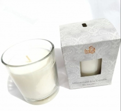 25% DISC Soy candle Unscented - Click for more info