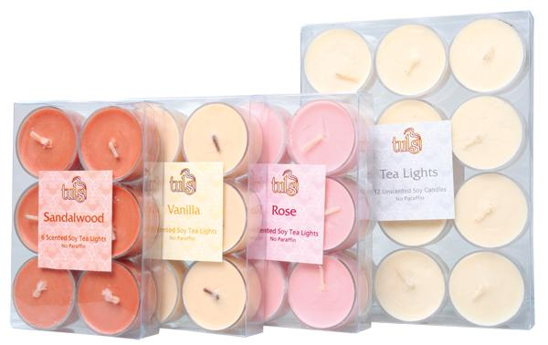 Soy wax tealights, 6 pack
